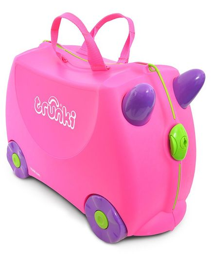 Trunki Trixie Kids Ride-On Suitcase and Carry-On Luggage - Pink