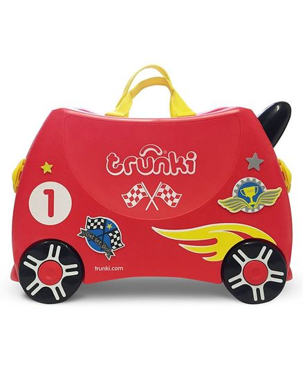 Trunki Rocco The Racecar Carry-On Luggage - Red