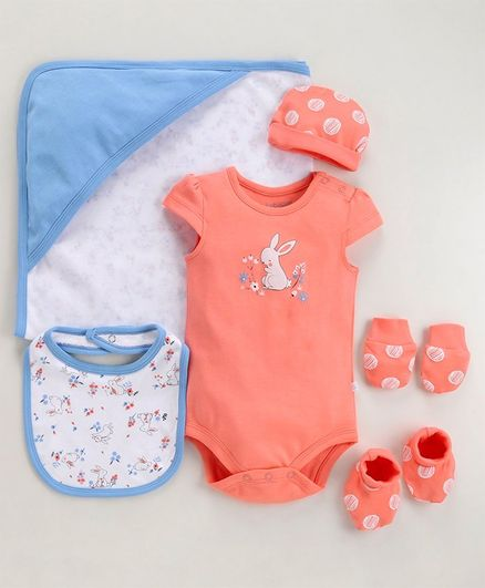 Babyoye Cotton Clothing Gift Set of 6 - Blue Orange