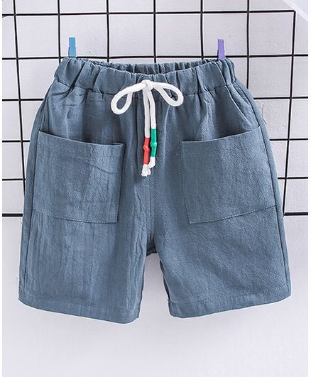 Pre Order - Awabox Solid Shorts With Pockets - Blue