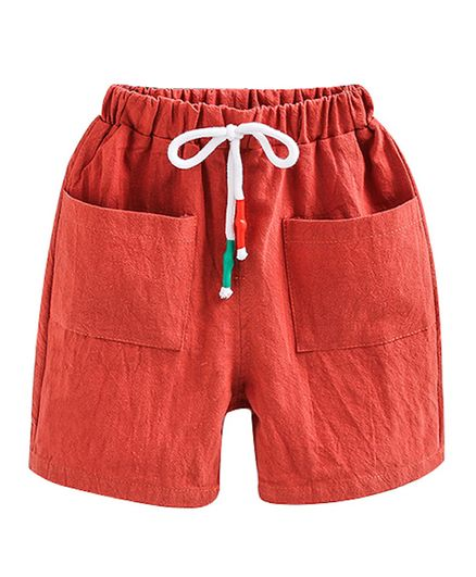 Pre Order - Awabox Solid Shorts With Pockets - Orange