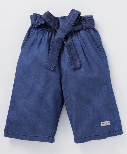 612 League Elasticated Denim Culottes - Blue