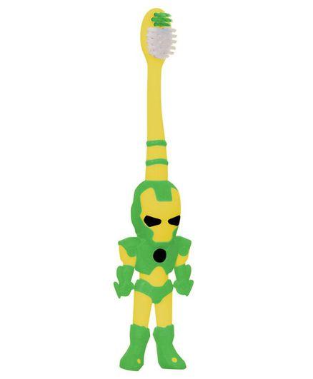 Buddsbuddy Ironman Shaped Toothbrush - Green Yellow