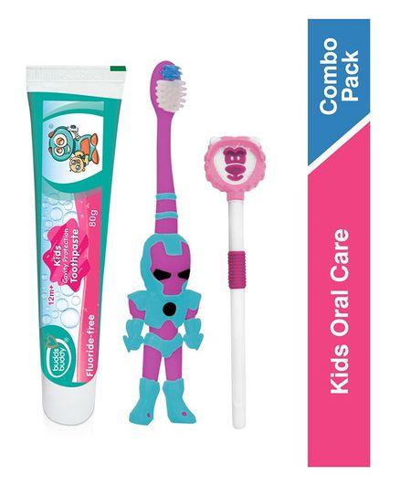 Buddsbuddy Kids Oral Care Combo Set - Multicolor