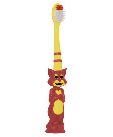 Buddsbuddy Tom Shaped Toothbrush - Yellow Red