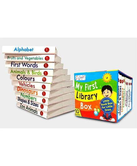 My First Library Box Preschool Board Books Set of 10 - English