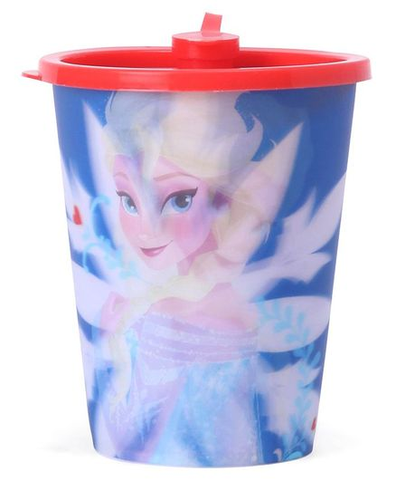 Disney Frozen 3D Print Sipper Cup With Lid Pink & Blue - 400 ml