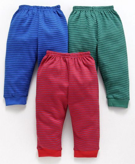 Zero Striped Lounge Pants Pack of 3 - Blue Green Red