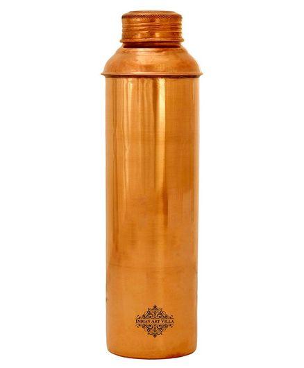 Indian Art Villa Copper Water Bottle Brown - 800 ml