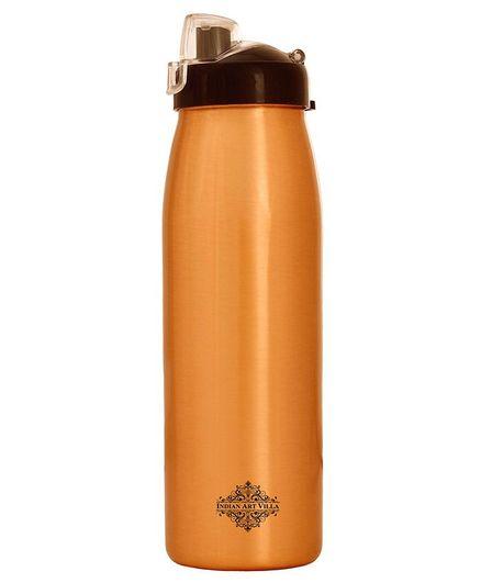 Indian Art Villa Seamless Copper Bottle Brown - 900 ml