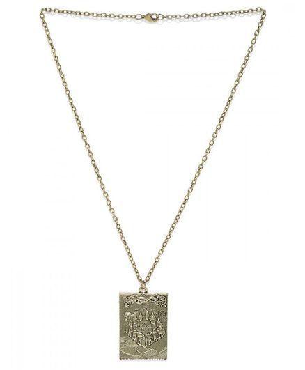 EFG Oxidized Harry Potter Marauders Map Necklace - Golden