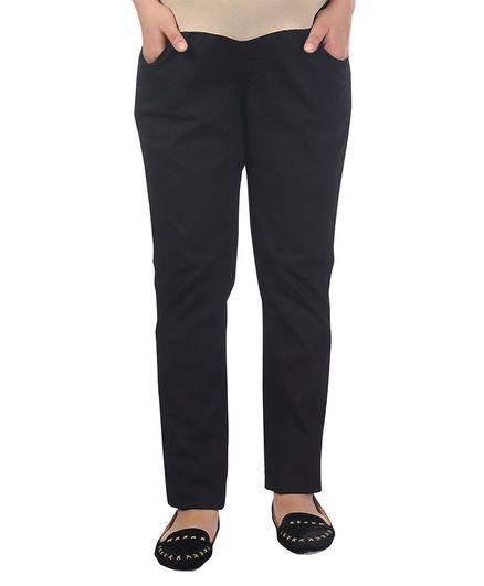 Kriti Full Length Maternity Jeans - Black