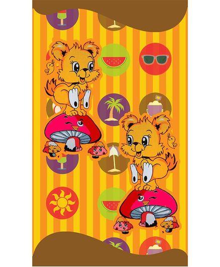 Sassoon Cotton Bath Towel Animal Print - Yellow
