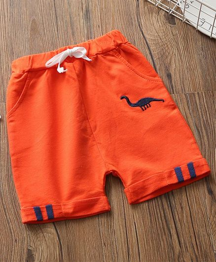 Awabox Dinosaur Embroidered Elasticated Shorts - Orange