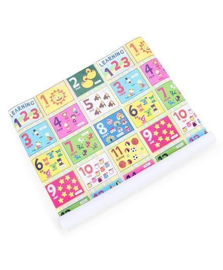 Sunta Numbers and Pictures Printed Baby Roll Mat - Multicolor