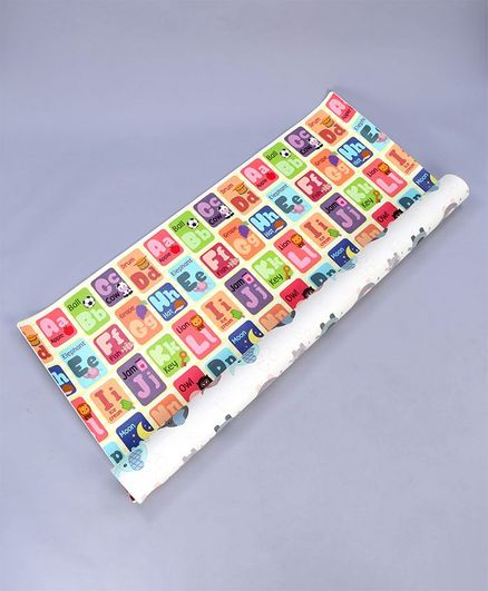 Sunta Alphabets With Pictures Printed Baby Roll Mat - Multicolor