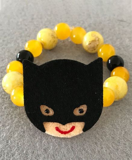 Kalacaree Cartoon Beads Bracelet Style Rakhi - Yellow