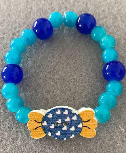 Kalacaree Candy Decorated Bracelet Rakhi - Blue