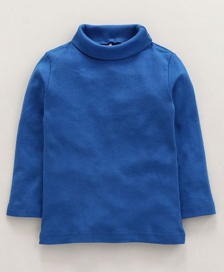Pink Rabbit Full Sleeves High Neck Winter Wear Knitted Tee - Royal Blue