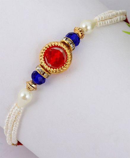 Little Palz Handmade Designer Beaded Rakhi - Multicolor