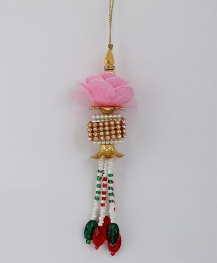 Little Palz Handmade Designer Beaded Lumba Rakhi - Multicolor