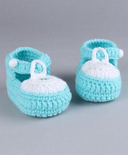 Cute Walk by Babyhug Winter Booties - Blue