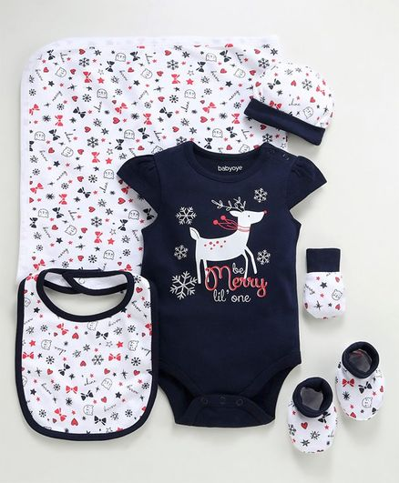 Babyoye Cotton Clothing Gift Set of 6 - Navy