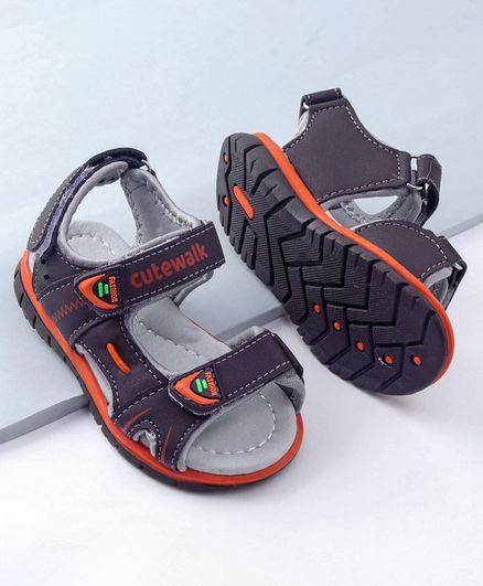 Cute walk by Babyhug Sandals - Orange