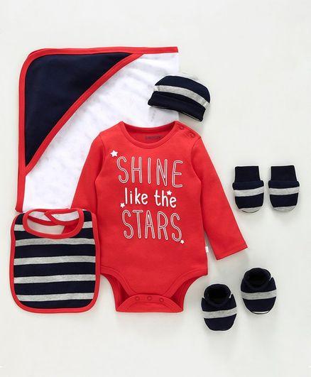 Babyoye Cotton Clothing Gift Set of 6 - Red