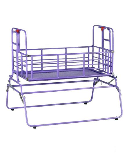 Genuine Industries Cradle With Mosquito Net - Violet
