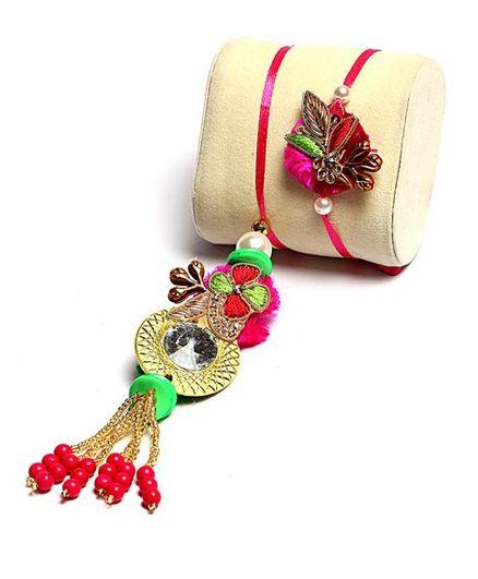 Passion Petals Rakhi APck of 2 - Multicolour