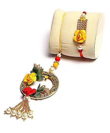 Passion Petals Flower Rakhi Pack of 2 - Multicolour