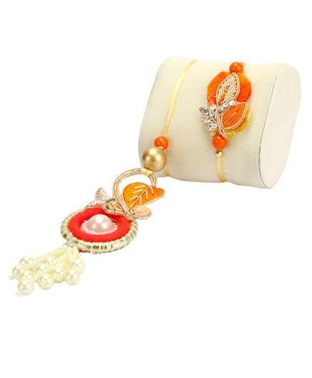 Passion Petals Pearl Rakhi Pack of 2 - Multicolour