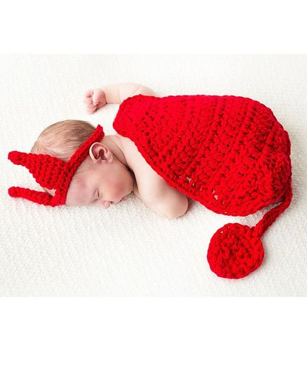 Babymoon Devil Baby Photography Photoshoot Prop - Red