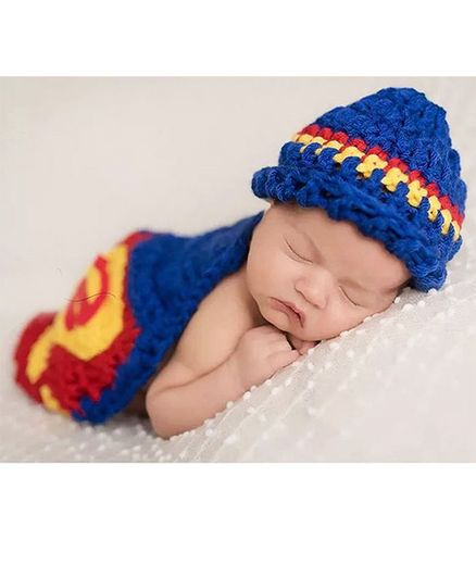 Babymoon Superman Baby Photography Photoshoot Prop - Blue