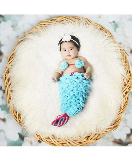 Babymoon Mermaid Designer Clothing  Baby Photography Props - Blue