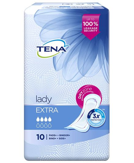 Tena Lady Extra Bladder Control Pads - 10 Pieces