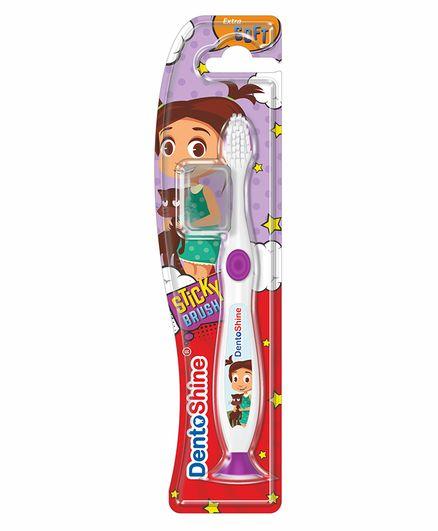 DentoShine Sticky Toothbrush - White & Purple