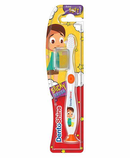 DentoShine Sticky Toothbrush - White & Orange