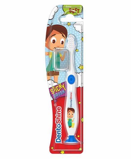 DentoShine Sticky Toothbrush - White & Blue