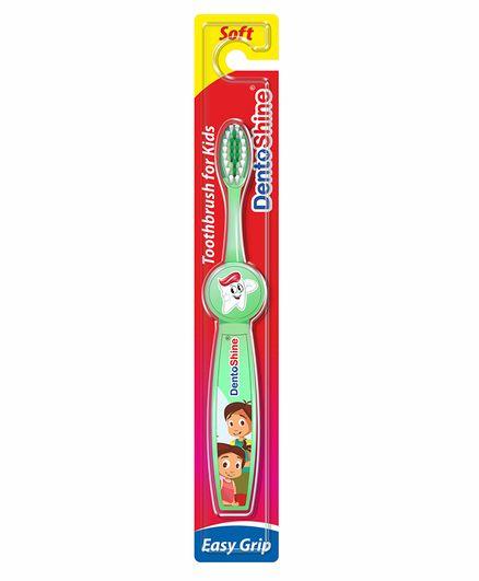 DentoShine Easy Grip Toothbrush - Green