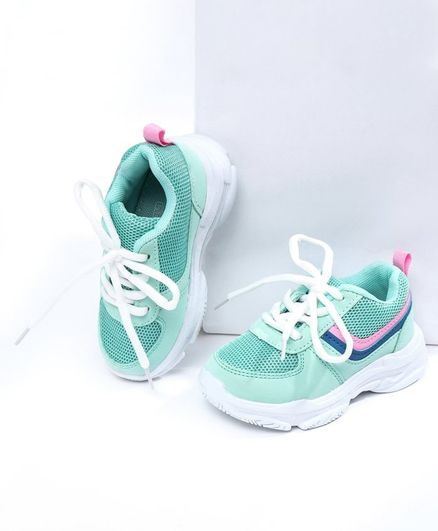 Cute Walk by Babyhug Lace Up Sports Shoes - Green