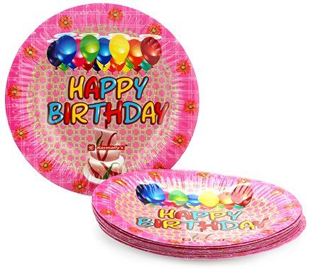 Karmallys Printed Paper Plates Happy Birthday Cake And Balloons Print - 19 cm  sc 1 st  Firstcry.com & Karmallys Printed Paper Plates Happy Birthday Cake And Balloons ...