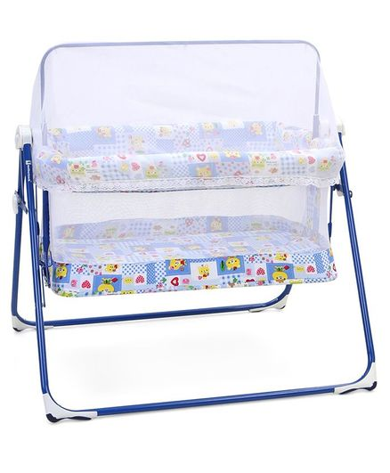 Mothertouch Combi Cradle With Mosquito Net - Blue