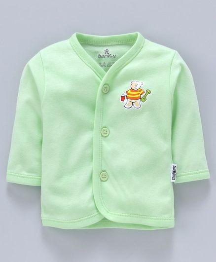Child World Full Sleeves Vest - Green