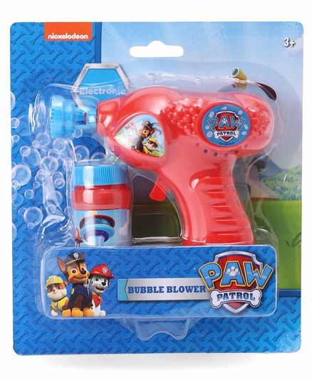 Paw Patrol Bubble Blower Gun - Red (Colors May Vary)