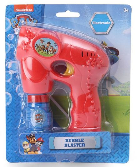 Paw Patrol Bubble Blaster Gun - Red (Colors May Vary)