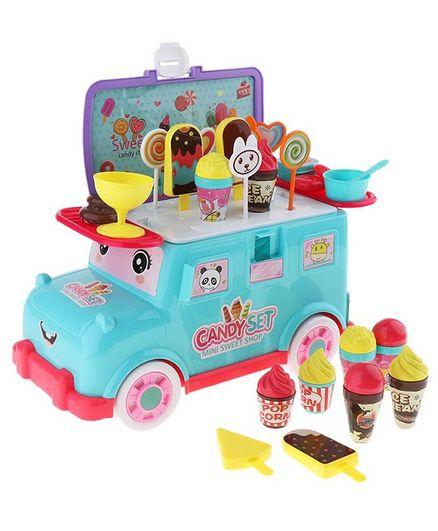 Yamama Mini Bus Candy Toy Ice Cream Trolley Bus - Multicolour