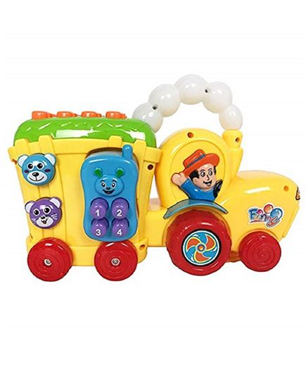 Yamama Farmer Truck Phone Toy With Lights and Music - Yellow