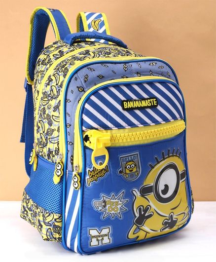 Minions School Bag Blue - Height 16 inches